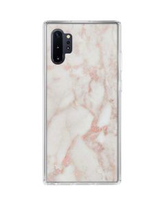 Rose Gold Marble Galaxy Note 10 Plus Clear Case