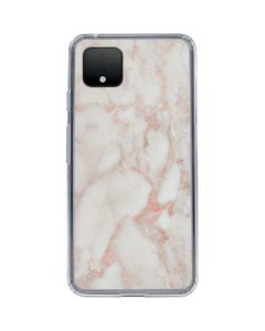 Rose Gold Marble Google Pixel 4 XL Clear Case