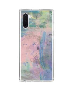 Rose Quartz & Serenity Abstract Galaxy Note 10 Clear Case