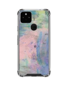 Rose Quartz & Serenity Abstract Google Pixel 4a 5G Clear Case