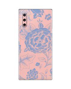 Rose Quartz & Serenity Floral Galaxy Note 10 Skin