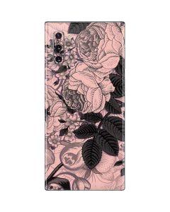 Rose Quartz Floral Galaxy Note 10 Skin