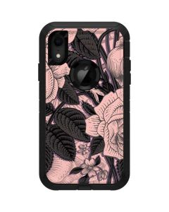 Rose Quartz Floral Otterbox Defender iPhone Skin