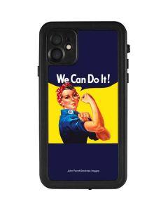 Rosie The Riveter Vintage War Poster iPhone 11 Waterproof Case