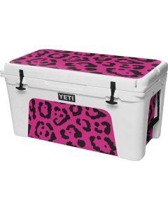 Rosy Leopard YETI Tundra 75 Hard Cooler Skin