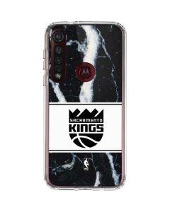 Sacramento Kings Marble Moto G8 Plus Clear Case