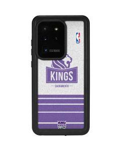 Sacramento Kings Purple Static Galaxy S20 Ultra 5G Waterproof Case