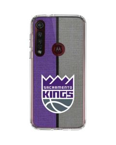 Sacramento Kings Split Canvas Moto G8 Plus Clear Case