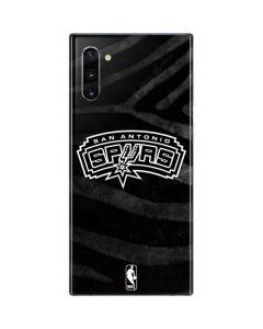 San Antonio Spurs Black Animal Print Galaxy Note 10 Skin