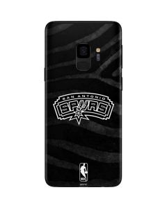 San Antonio Spurs Black Animal Print Galaxy S9 Skin