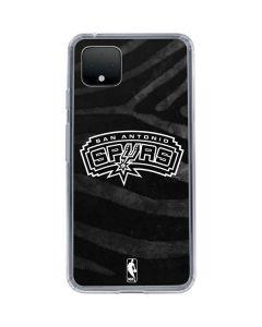 San Antonio Spurs Black Animal Print Google Pixel 4 XL Clear Case