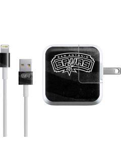 San Antonio Spurs Black Animal Print iPad Charger (10W USB) Skin