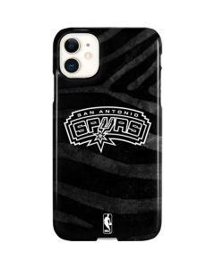 San Antonio Spurs Black Animal Print iPhone 11 Lite Case