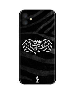 San Antonio Spurs Black Animal Print iPhone 11 Skin