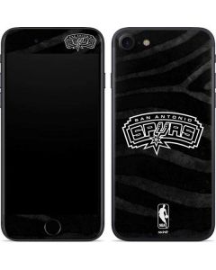 San Antonio Spurs Black Animal Print iPhone SE Skin
