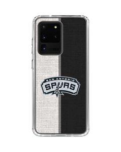 San Antonio Spurs Canvas Galaxy S20 Ultra 5G Clear Case