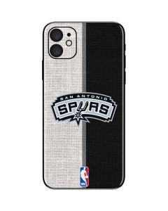 San Antonio Spurs Canvas iPhone 11 Skin