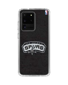 San Antonio Spurs Distressed Galaxy S20 Ultra 5G Clear Case