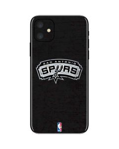San Antonio Spurs Distressed iPhone 11 Skin