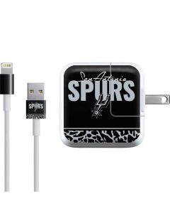 San Antonio Spurs Elephant Print iPad Charger (10W USB) Skin