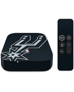 San Antonio Spurs Large Logo Apple TV Skin
