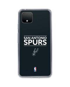 San Antonio Spurs Standard - Black Google Pixel 4 XL Clear Case