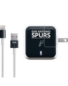 San Antonio Spurs Standard - Black iPad Charger (10W USB) Skin