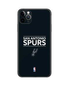 San Antonio Spurs Standard - Black iPhone 11 Pro Max Skin