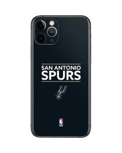San Antonio Spurs Standard - Black iPhone 11 Pro Skin