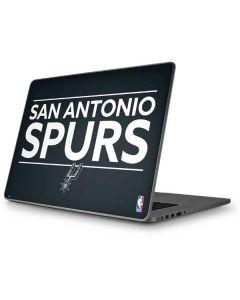 San Antonio Spurs Standard - Black Apple MacBook Pro 17-inch Skin