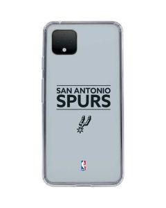 San Antonio Spurs Standard - Grey Google Pixel 4 XL Clear Case