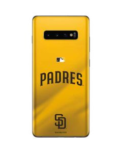 San Diego Padres Home Jersey Galaxy S10 Plus Skin