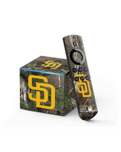 San Diego Padres Realtree Xtra Green Camo Fire TV Cube Skin