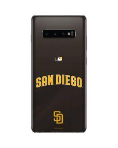 San Diego Padres Wordmark Jersey Galaxy S10 Plus Skin