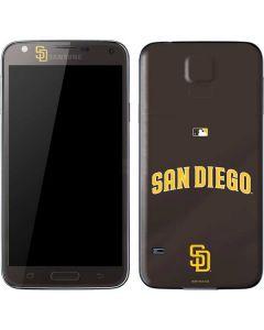 San Diego Padres Wordmark Jersey Galaxy S5 Skin