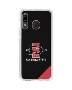 San Diego State Galaxy A20 Clear Case