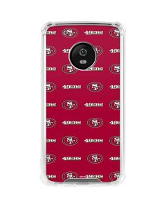 San Francisco 49ers Blitz Series Moto G5 Plus Clear Case
