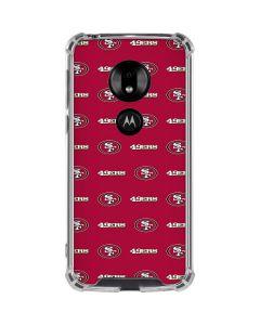 San Francisco 49ers Blitz Series Moto G7 Play Clear Case