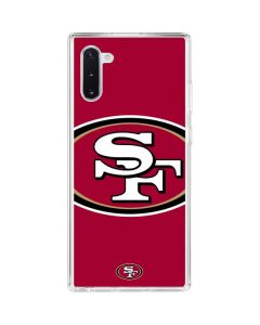 San Francisco 49ers Large Logo Galaxy Note 10 Clear Case