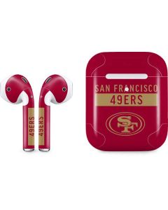 San Francisco 49ers Red Performance Series Apple AirPods 2 Skin