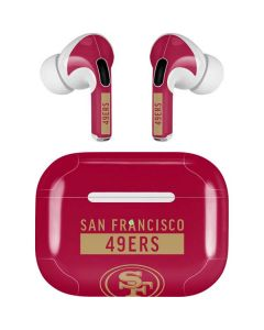 San Francisco 49ers Red Performance Series Apple AirPods Pro Skin