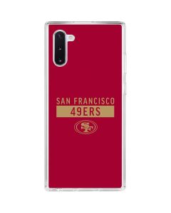 San Francisco 49ers Red Performance Series Galaxy Note 10 Clear Case