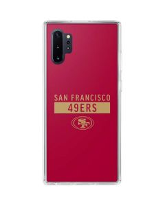 San Francisco 49ers Red Performance Series Galaxy Note 10 Plus Clear Case