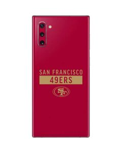 San Francisco 49ers Red Performance Series Galaxy Note 10 Skin