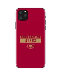 San Francisco 49ers Red Performance Series iPhone 11 Pro Max Skin