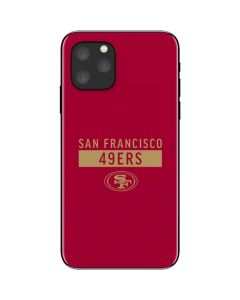 San Francisco 49ers Red Performance Series iPhone 11 Pro Skin