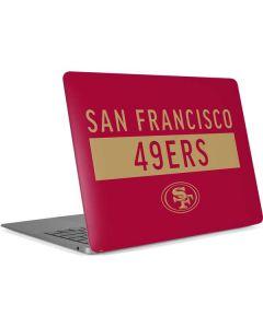 San Francisco 49ers Red Performance Series Apple MacBook Air Skin