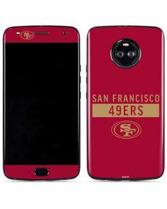 San Francisco 49ers Red Performance Series Moto X4 Skin