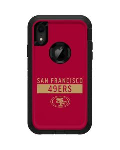 San Francisco 49ers Red Performance Series Otterbox Defender iPhone Skin