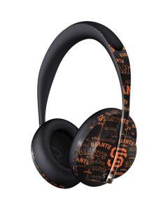 San Francisco Giants - Cap Logo Blast Bose Noise Cancelling Headphones 700 Skin